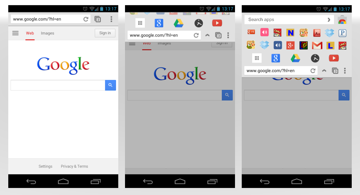 chrome apps on android concept viewout