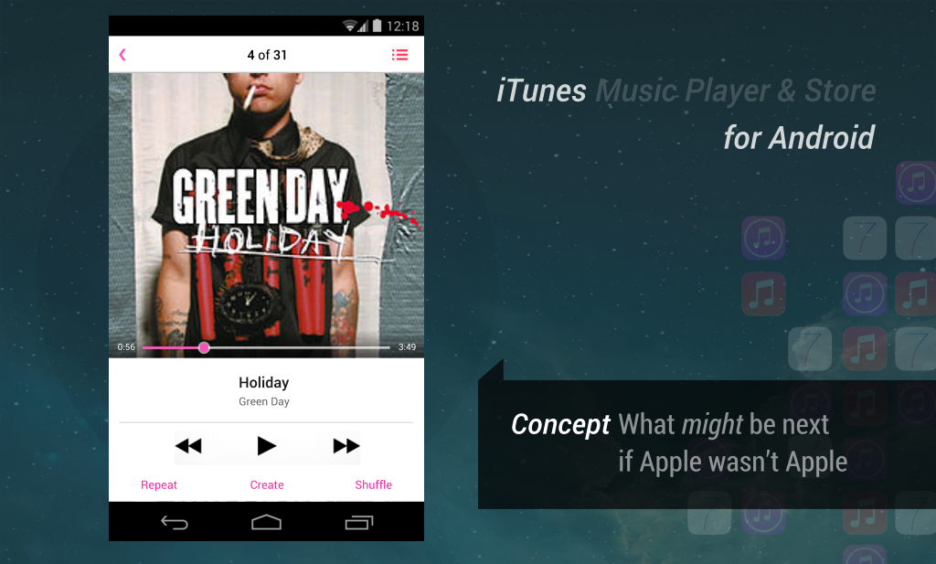 itunes for android music player