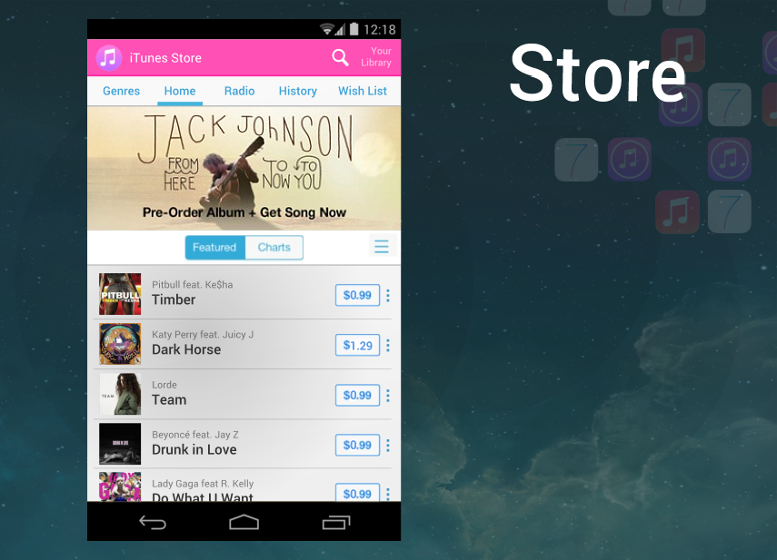 itunes android store
