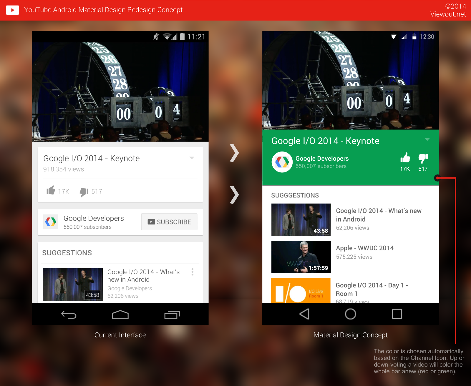 Youtube Android Material Design Redesign Concept Viewout